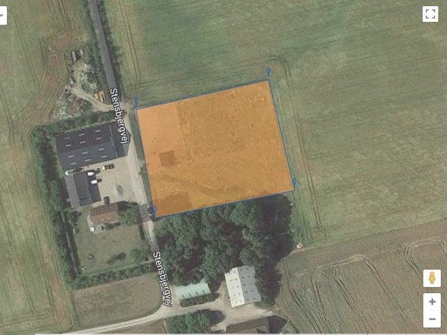 Beregn hvor stor skal folden være ud fra et satellitfoto