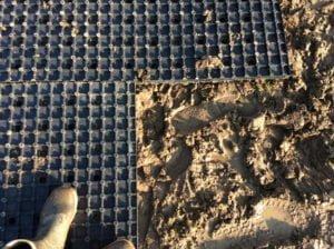 Heavymat lagt direkte ovenpå mudderet